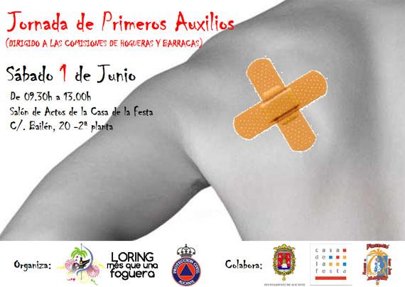 La Foguera Avda. de Loring-Estació y la Agrupación Local de Protección Civil de Alicante, organizan la I Jornada de Primeros Auxilios