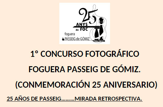 CONCURSO FOTOGRAFIA FOGUERA PASSEIG DE GÓMIZ